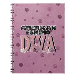 American Eskimo DIVA Spiral Note Book