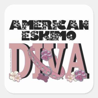 American Eskimo DIVA Square Sticker
