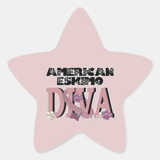 American Eskimo DIVA Star Stickers