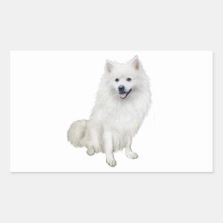 American Eskimo Dog (A) Rectangular Sticker