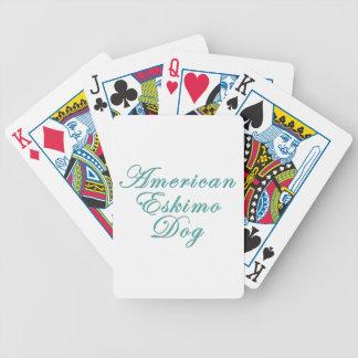 American Eskimo Dog Bicycle Poker Deck