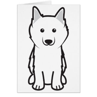 American Eskimo Dog Cartoon Card