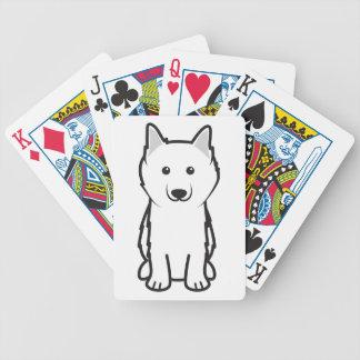 American Eskimo Dog Cartoon Card Decks