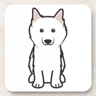 American Eskimo Dog Cartoon Drink Coasters