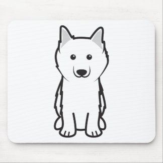 American Eskimo Dog Cartoon Mouse Pad