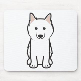 American Eskimo Dog Cartoon Mouse Pads