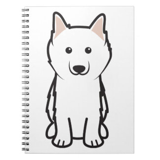 American Eskimo Dog Cartoon Spiral Notebook