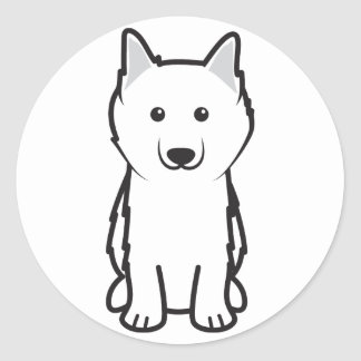 American Eskimo Dog Cartoon Stickers