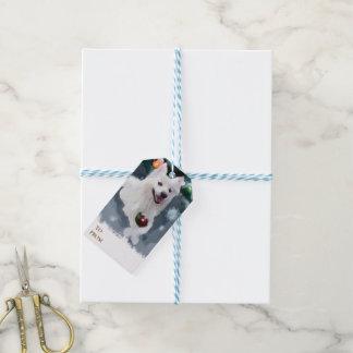 American Eskimo Dog Christmas Gift Tags