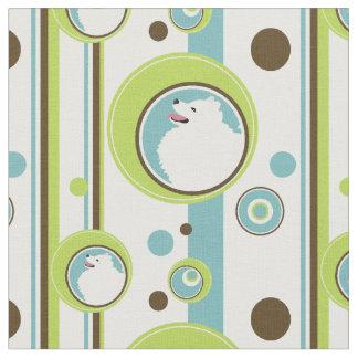 American Eskimo Dog Circle Pattern Fabric