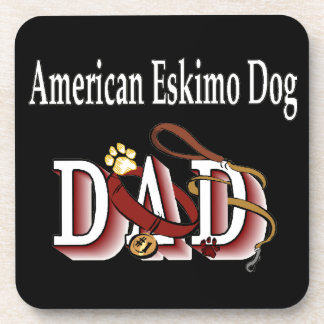 American Eskimo Dog DAD Coasters