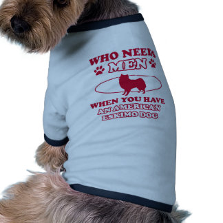AMERICAN ESKIMO DOG DESIGNS RINGER DOG SHIRT
