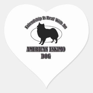 AMERICAN ESKIMO DOG DOG DESIGNS HEART STICKER