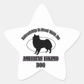 AMERICAN ESKIMO DOG DOG DESIGNS STAR STICKER