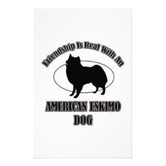 AMERICAN ESKIMO DOG DOG DESIGNS CUSTOMIZED STATIONERY