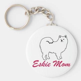American Eskimo Dog Eskie Mom Keychains