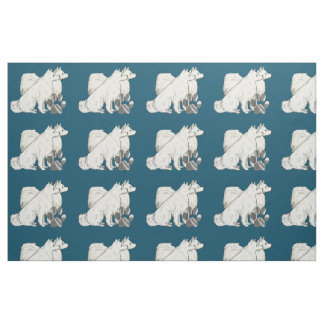American Eskimo dog fabric