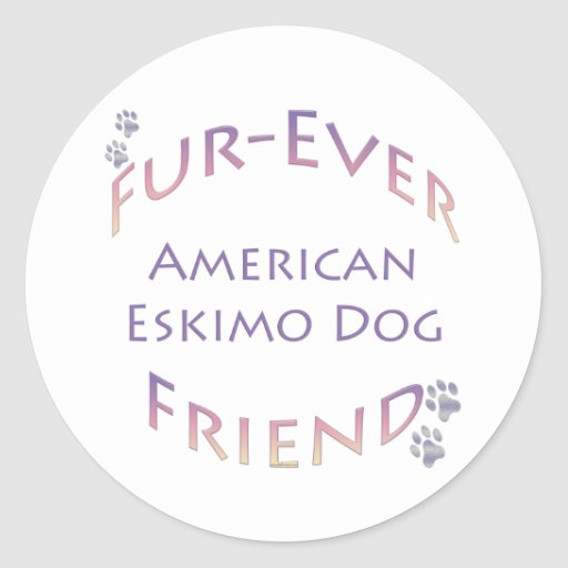 American Eskimo Dog Furever Sticker