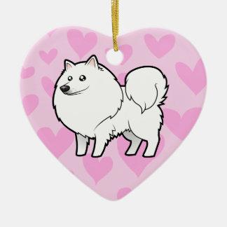American Eskimo Dog / German Spitz Love Christmas Ornament