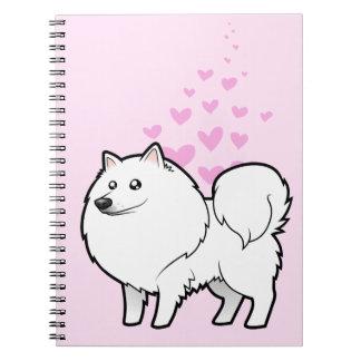American Eskimo Dog / German Spitz Love Note Book