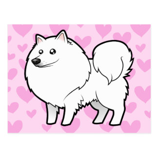 American Eskimo Dog / German Spitz Love Postcard