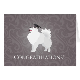 American Eskimo Dog Graduation Design Card