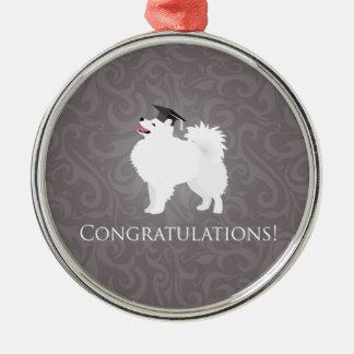 American Eskimo Dog Graduation Design Christmas Ornament