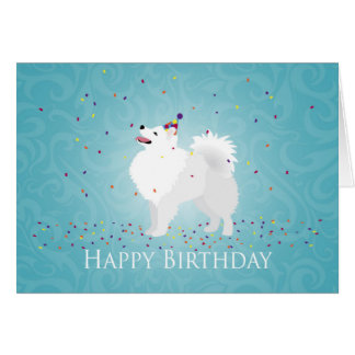 American Eskimo Dog Happy Birthday Design Card