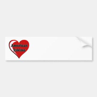 American Eskimo Dog Heart Bumper Sticker