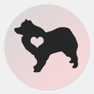 American Eskimo Dog Heart Stickers
