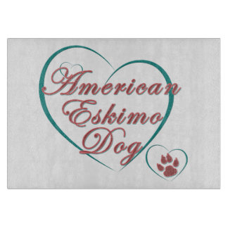 American Eskimo Dog Kitchen Decor Cutting Board