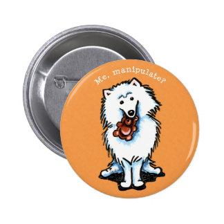 American Eskimo Dog Manipulate Pinback Buttons