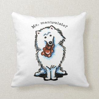American Eskimo Dog Manipulate Pillows