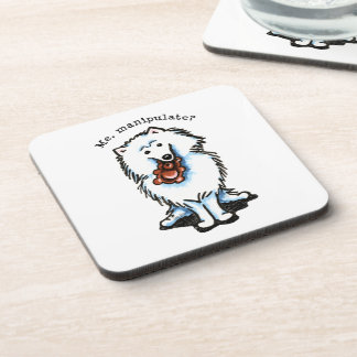 American Eskimo Dog Manipulate Drink Coaster