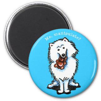 American Eskimo Dog Manipulate Fridge Magnet