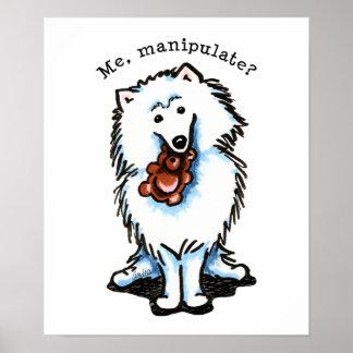 American Eskimo Dog Manipulate Poster