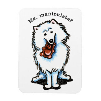 American Eskimo Dog Manipulate Flexible Magnet