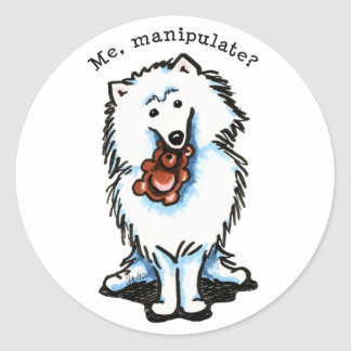 American Eskimo Dog Manipulate Round Sticker