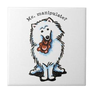 American Eskimo Dog Manipulate Ceramic Tile