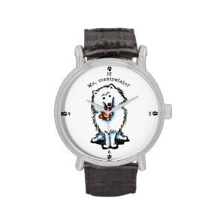 American Eskimo Dog Manipulate Watches