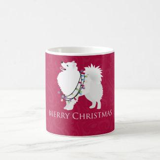 American Eskimo Dog Merry Christmas Design Coffee Mug