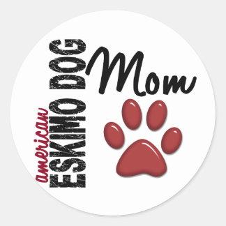 American Eskimo Dog Mom 2 Round Sticker