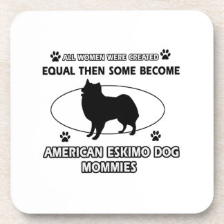 American eskimo dog mommies coasters