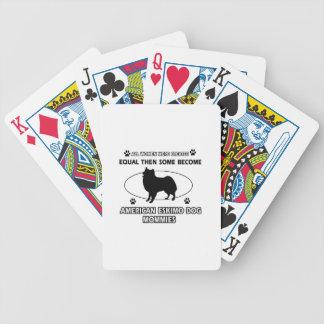 American eskimo dog mommies poker deck