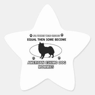 American eskimo dog mommies star sticker