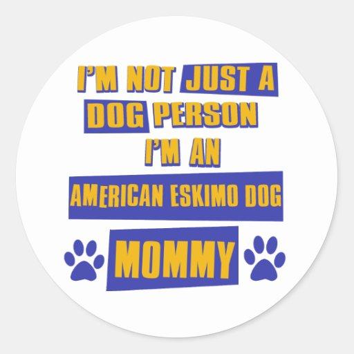 American Eskimo Dog Mommy Stickers