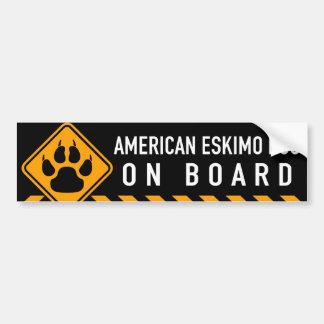 American Eskimo Dog On Board Bumper Sticker