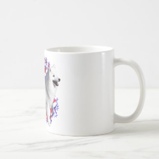 American Eskimo Dog Patriot Basic White Mug