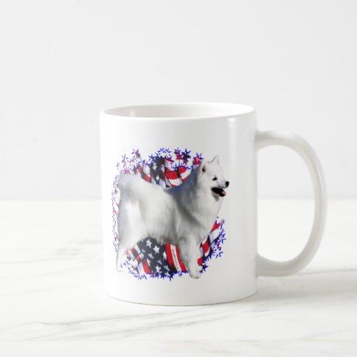 American Eskimo Dog Patriot Coffee Mug