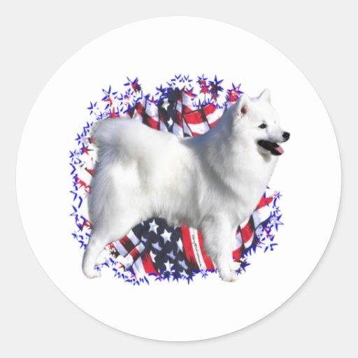 American Eskimo Dog Patriot Sticker